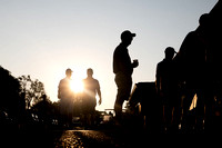 sunrise photo of golfers before a golf tournament in Wichita